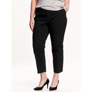 Old Navy Black Harper Mid-Rise Cropped Pants 24